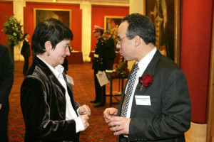Douglas Blausten with Dame Alison Richard