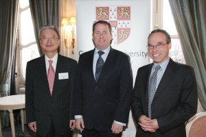 Douglas Blausten with Rt Hon Dr. Liam Fox, M.P. and The Korean Ambassador